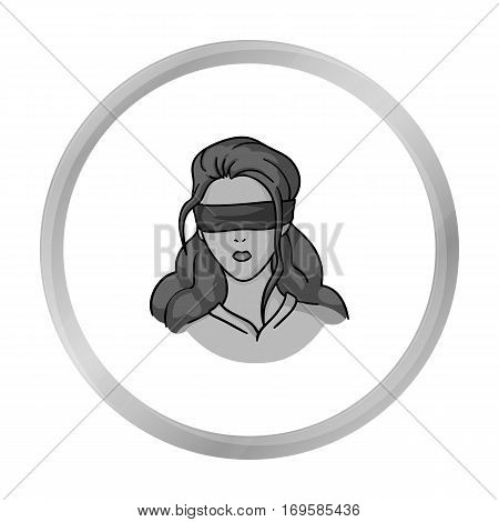 Hostage icon in monochrome style isolated on white background. Crime symbol vector illustration.