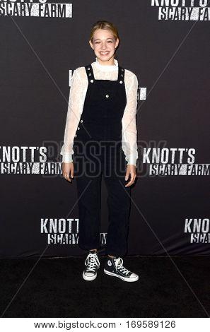 LOS ANGELES - SEP 30:  Sadie Calvano at the 2016 Knott's Scary Farm at Knott's Berry Farm on September 30, 2016 in Buena Park, CA