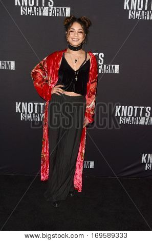 LOS ANGELES - SEP 30:  Vanessa Hudgens at the 2016 Knott's Scary Farm at Knott's Berry Farm on September 30, 2016 in Buena Park, CA