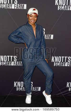 LOS ANGELES - SEP 30:  Keke Palmer at the 2016 Knott's Scary Farm at Knott's Berry Farm on September 30, 2016 in Buena Park, CA