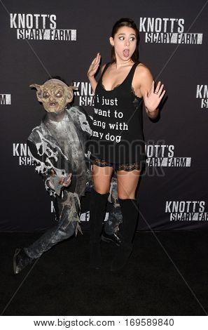 LOS ANGELES - SEP 30:  Kira Kosarin at the 2016 Knott's Scary Farm at Knott's Berry Farm on September 30, 2016 in Buena Park, CA