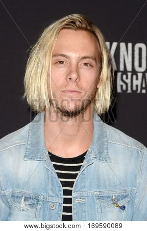 LOS ANGELES - SEP 30:  Riker Lynch at the 2016 Knott's Scary Farm at Knott's Berry Farm on September 30, 2016 in Buena Park, CA