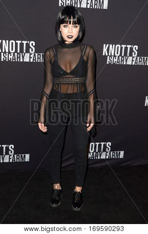 LOS ANGELES - SEP 30:  Jennette McCurdy at the 2016 Knott's Scary Farm at Knott's Berry Farm on September 30, 2016 in Buena Park, CA