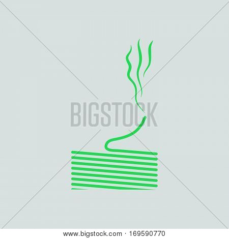 Solder wire icon. Gray background with green. Vector illustration. poster
