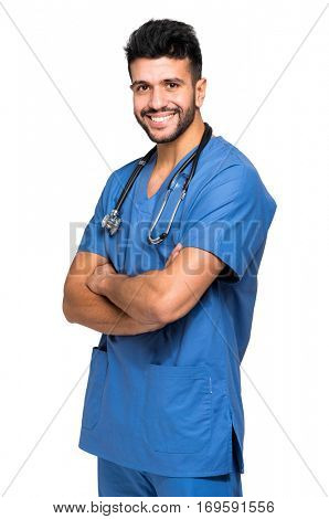 Handsome male nurse portrait