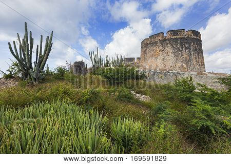 Old tower of fort Beekenburg on Curacao
