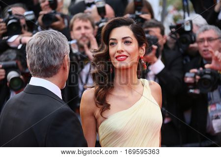 George Clooney, Amal Clooney attend the 'Money Monster' Premiere during the 69th annual Cannes Film Festival on May 12, 2016 in Cannes, France.