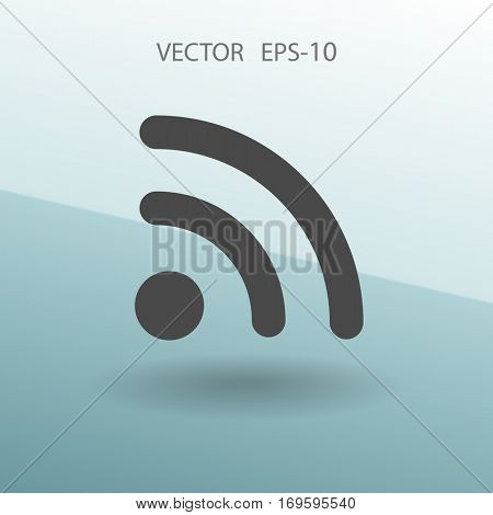 Flat icon of rss. vector illustration