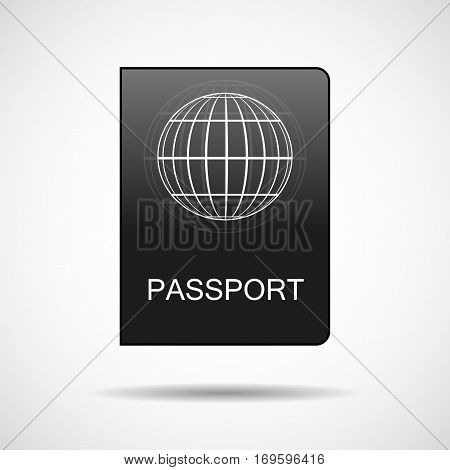 Passport vector icon. Document, personal identification, nationality