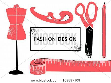 Fashion design vector illustration EPS10 inky on whte background