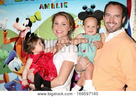 LOS ANGELES - DEC 4:  Amelie Bailey, Virginia Williams, Ford Bricken, Bradford Bricken at the Amelie Bailey's 1st Birthday Party at Private Residence on December 4, 2016 in Studio CIty, CA
