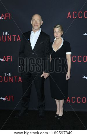 LOS ANGELES - OCT 10:  J K Simmons, Wife at the