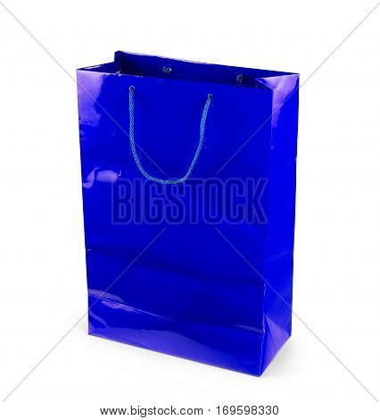 Paper shopping bag isolated on white Packet, Purchase, E-commerce, Commerce, Trade, Mall