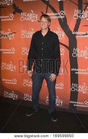 LOS ANGELES - OCT 15:  Tony Hawk at the 5th Annual Hilarity for Charity Variety Show: Seth Rogen's Halloween at Hollywood Palladium, on October 15, 2016 in Los Angeles, CA