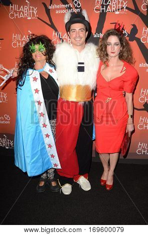 LOS ANGELES - OCT 15:  Mother, Ben Feldman, Wife at the 5th Annual Hilarity for Charity Variety Show: Seth Rogen's Halloween at Hollywood Palladium, on October 15, 2016 in Los Angeles, CA