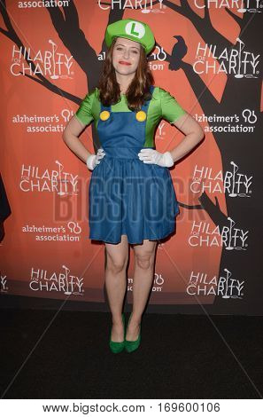 LOS ANGELES - OCT 15:  Lauren Miller at the 5th Annual Hilarity for Charity Variety Show: Seth Rogen's Halloween at Hollywood Palladium, on October 15, 2016 in Los Angeles, CA