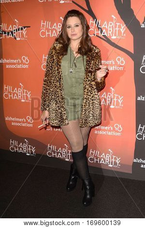 LOS ANGELES - OCT 15:  Katie Lowes at the 5th Annual Hilarity for Charity Variety Show: Seth Rogen's Halloween at Hollywood Palladium, on October 15, 2016 in Los Angeles, CA