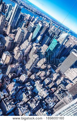 office buildings of manhattan in new york