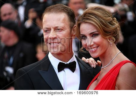 Cannes, France - 12 MAY 2016: Rocco Siffredi and Rozsa Tassi attend the screening of 'Money Monster' at the annual 69th Cannes Film Festival.