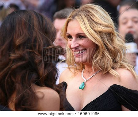 Julia Roberts attends the 'Money Monster' Premiere during the 69th annual Cannes Film Festival on May 12, 2016 in Cannes, France.