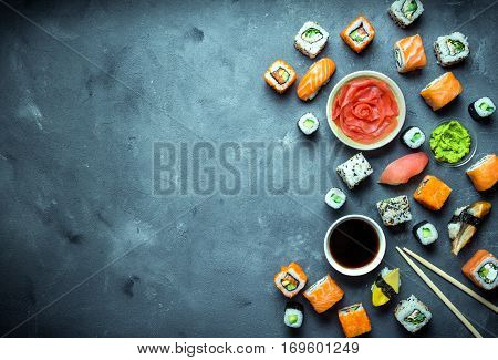 Japanese Sushi Background