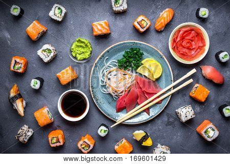 Japanese Sushi And Sashimi