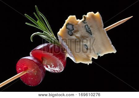 Blue Cheese With Grape And Rosemary