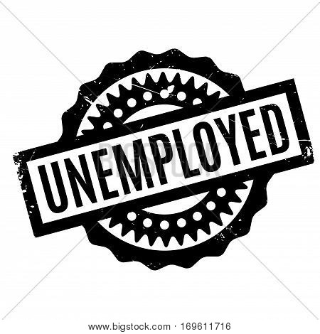 Unemployed rubber stamp. Grunge design with dust scratches. Effects can be easily removed for a clean, crisp look. Color is easily changed.