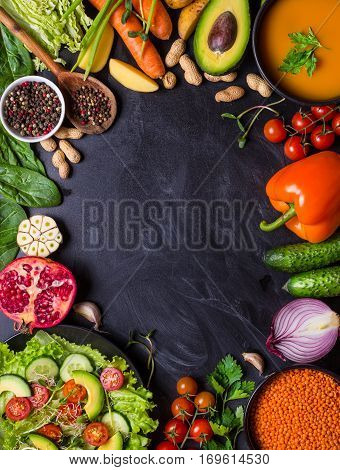 Vegan Dinner Background
