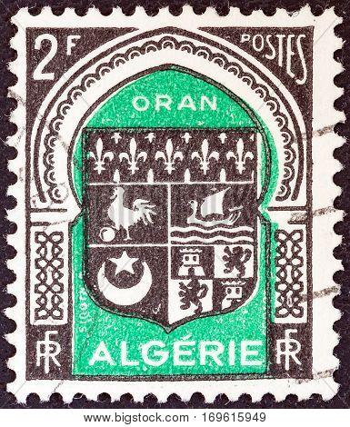 ALGERIA - CIRCA 1947: A stamp printed in Algeria from the