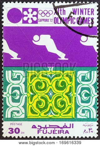 FUJAIRAH EMIRATE - CIRCA 1972: A stamp printed in United Arab Emirates from the