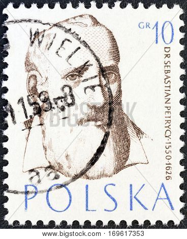 POLAND - CIRCA 1957: A stamp printed in Poland from the