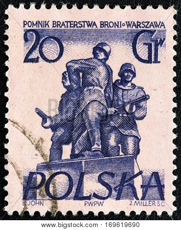 POLAND - CIRCA 1955: A stamp printed in Poland from the