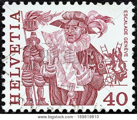 SWITZERLAND - CIRCA 1977: A stamp printed in Switzerland from the