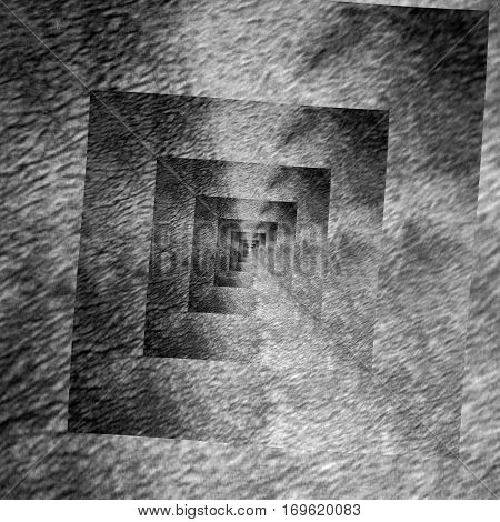 Cubic grunge dark and light grey spiral image