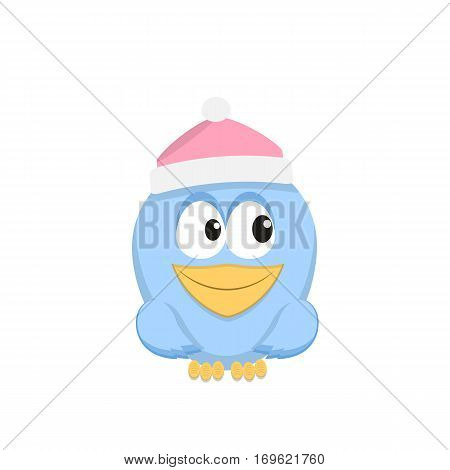 Vector color image of a bird bird design icon