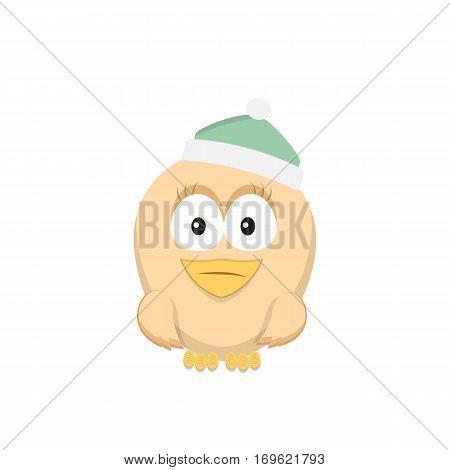 Vector color image of a bird bird design icon.