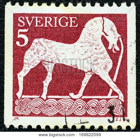 SWEDEN - CIRCA 1973: A stamp printed in Sweden from the