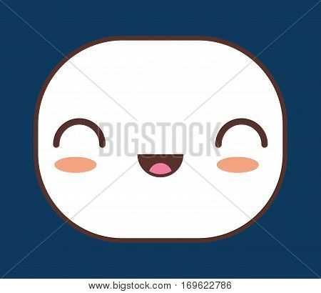 excited kawaii icon image vector illustration design