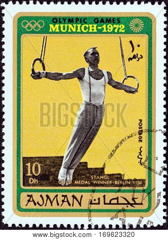 AJMAN EMIRATE - CIRCA 1971: A stamp printed in United Arab Emirates from the