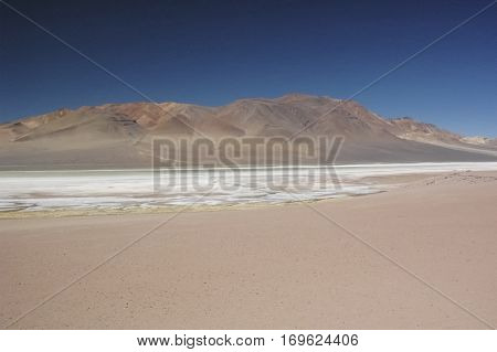 Martian landscape in the cordillera of the Andes
