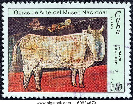 CUBA - CIRCA 1978: A stamp printed in Cuba from the