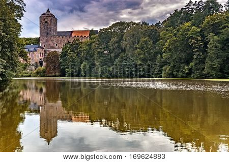 Summer view of historically castle Kost/Czech Republic