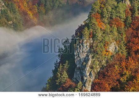 Autumn view of the Rockies at the Slovak