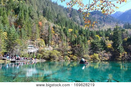 Jiuzhai Valley is most renowned for its stunning natural scenery of colorful lakes mature forests and spectacular waterfalls