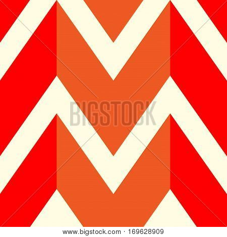 The pattern in which the red orange and white lines. Vector illustration