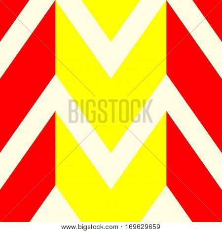 The pattern in which the red yellow and white lines. Vector illustration