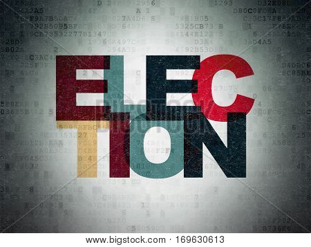 Political concept: Painted multicolor text Election on Digital Data Paper background