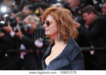 Susan Sarandon attends the 'Money Monster' Premiere during the 69th annual Cannes Film Festival on May 12, 2016 in Cannes, France.
