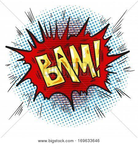 Pop art retro comic speech bubble with word Bam vector